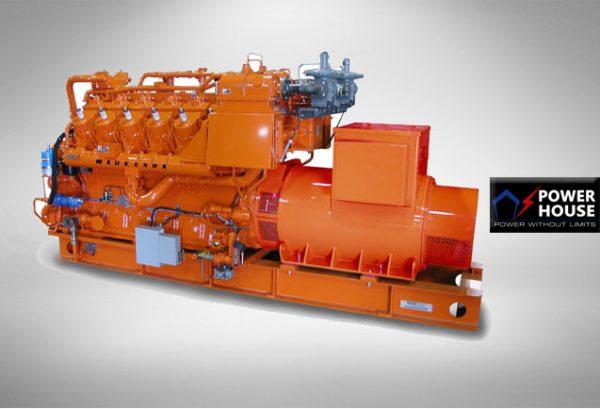 تأجير المولد الكهربائي Waukesha Gas Genset 980 KW